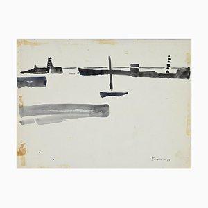 Herna Hausmann - Harbor View - Original Watercolor - 1960s