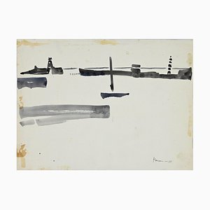 Herna Hausmann - Harbour View - Acuarela original - años 60