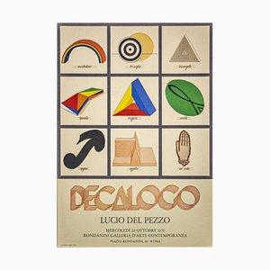 Lucio Del Pezzo - Lucio Del Pezzo Exhibition Poster - Offset Print - 1976