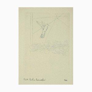 Pietro Donadei - Bird - Original Etching on Paper - 1974