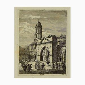 Luigi Rossetti - Church of Barletta - Original Radierung - 1880er