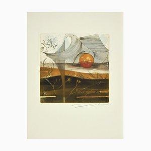 René Lubarow - the Wind - Original Radierung - 1978
