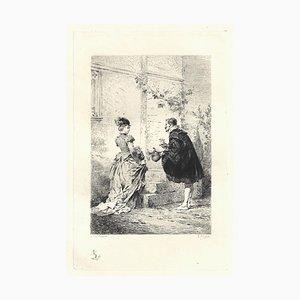 Emile Boilvin - Le Bas du Ciel - Etching - 1882