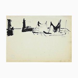 Herta Haussmann - Port - China Ink - 1950s