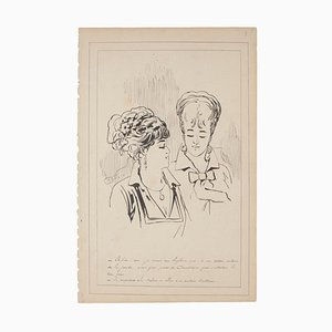 Unknown - Figures - Ink on Paper After G.h. De Beaumont - Early 20th Century