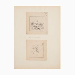 Figures - Pencil - Early 20th-Century