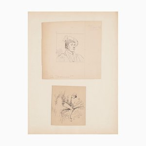 Unknown - Figures - Pencil and Pen on Paper after GH de Beaumont - Early 20th Century
