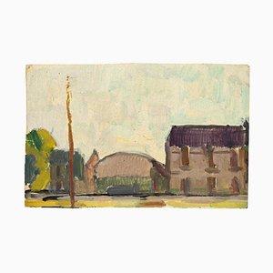 Inconnu - Maisons de Campagne - Tempera et Aquarelle Originales - Mid-20th Century