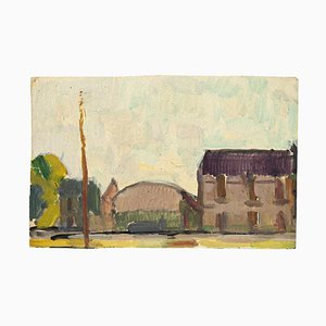 Unknown - Country Houses - Original Tempera and Watercolor - Mid-20th Century