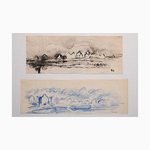Herta Hausmann - Landschaft - Aquarell auf Papier - 1916