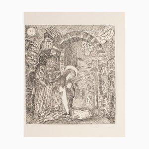 Gian Paolo Berto - Cave of Bethlehem - Original Etching - 1976