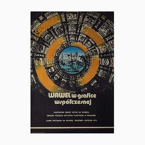 Wawel the Graphic Art - Manifesto - Original Print Offset to Wawel Castle in Graphic Art - 1974
