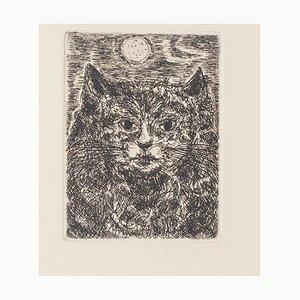 Gian Paolo Berto - The Cat - Etching - 1970s