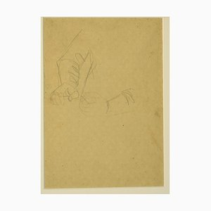 Unknown - The Gesture - Original Pencil Drawing - 1940s