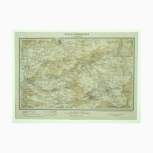 Unknown - Map of Vallombrosa - Florence 1926