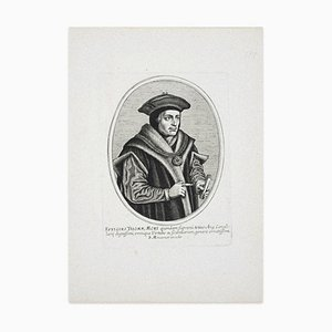 Balthasar Moncornet - Portrait of Thomas Moore - Original Etching - 17th Century