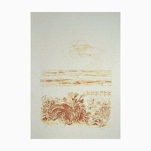 Sandro Sanna - the Sea - Original Lithograph - 1969