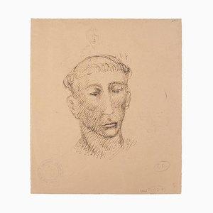 Marcello Ciampolini - Head of Man - Original Pen and Pencil on Paper - 1946