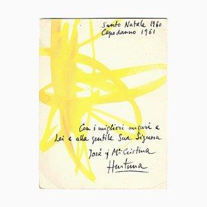 José Hurtuna Giralt - Autogrammkarte zum Happy New Year - 1960