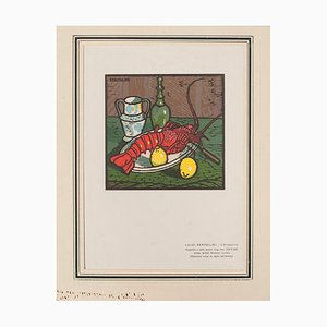 Luigi Servolini - the Lobster - Original Holzschnitt - 1950er