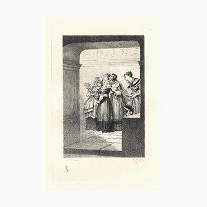 Emile Boilvin - Barbary Barbarei - Originale Radierung - 1882