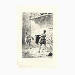 Emile Boilvin - Les Chevalier Espagnols - Etching - 1882