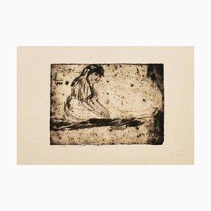Unknown - Girl - Original Radierung - Frühes 20. Jahrhundert