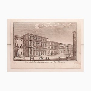 Unknown - Cityscape of Genova - Original Etching on Paper - 18th Century