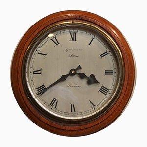 Golden Oak Synchronome Wall Clock