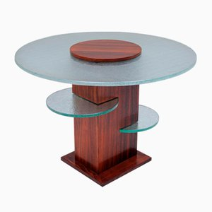 Geometrical Gueridon in Rosewood and Glass, 1932