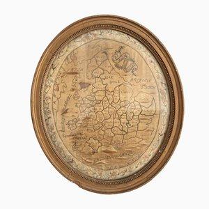 Mappa Regency Silk dell'Inghilterra e del Galles