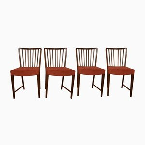 Chaises de Salon 1666 Vintage en Teck par Ole Wanscher pour Fritz Hansen, Set de 4