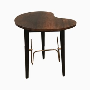 Round Rosewood Tripod Coffee Table, 1960s