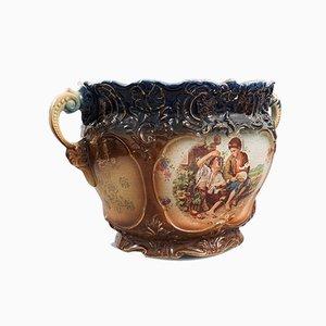 Antique Edwardian English Decorative Ceramic Bowl or Planter, 1910s