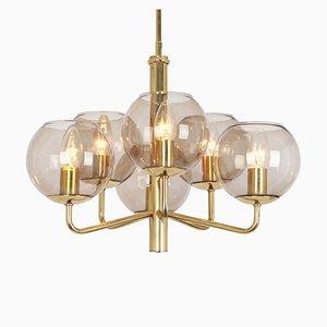Lámpara de araña al estilo de Gaetano Sciolari, años 60