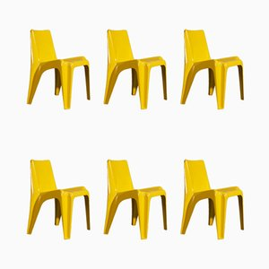 Yellow BA1171 Chairs by Helmut Bätzner for Bofinger, 1960s, Set of 6