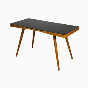 Coffee Table with Black Glass Top by Jiří Jiroutek for Novy Domov, 1960s