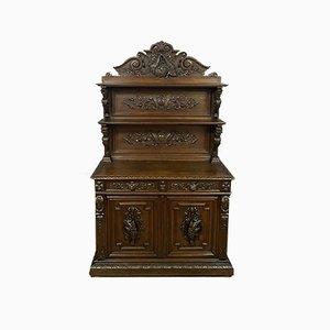 Renaissance Style Solid Walnut Saint Hubert Buffet from Hunting Lodge, 1850s