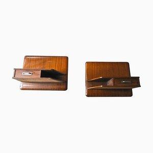Wooden Nightstands, 1960s, Set of 2