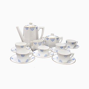 Art Deco Tea Service with Large Cups by TLB for Limoges, 1920s, Set of 15