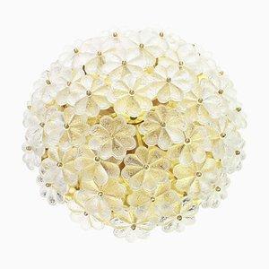 Deutsche Florale Murano Glas Deckenlampe von Ernst Palme, 1970er