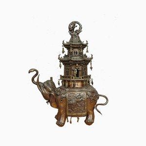 Imperial Chinese Chiseled Bronze Perfume Burner, 1860s