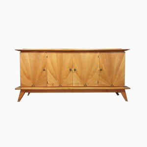 Jacques Adnet Style Sycamore & Walnut Buffet, 1940s