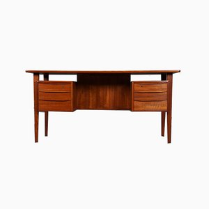 Teak Schreibtisch von Peter Løvig Nielsen für Dansk Design, 1967