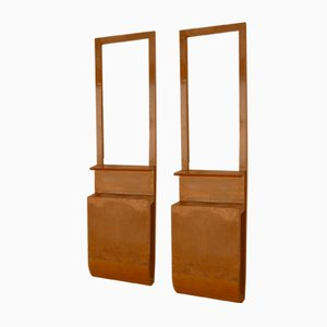 Art Deco Wooden Console Tables, 1940s, Set of 2