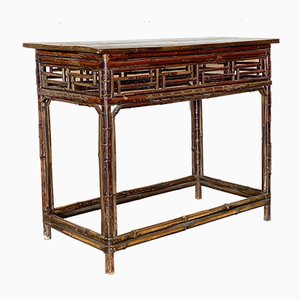 Antique Chinese Bamboo Console Table, 1800s