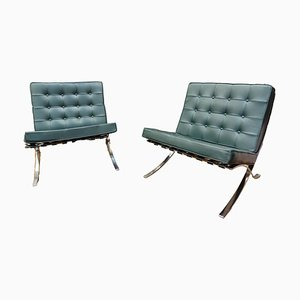 Barcelona Armchairs by Lilly Reich & Ludwig Mies van der Rohe, 1980s, Set of 2