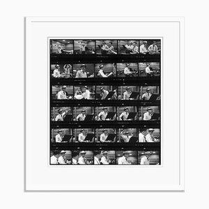 Frames von Frank Silver Gelatin Resin Druck in Weiß von Hulton Archive