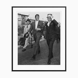Martin and Sinatra Silver Gelatin Resin Print Framed in Black by J. Wilds