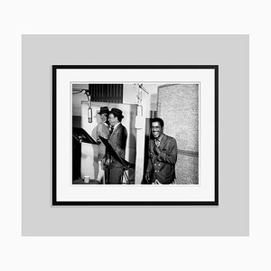 Rat Pack Recording Session Archival Pigment Print Framed in Black by Michael Ochs Archive